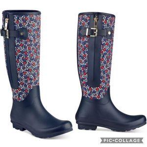 Tommy Hilfiger Blue Mela Rain Boot Size 8 EUC